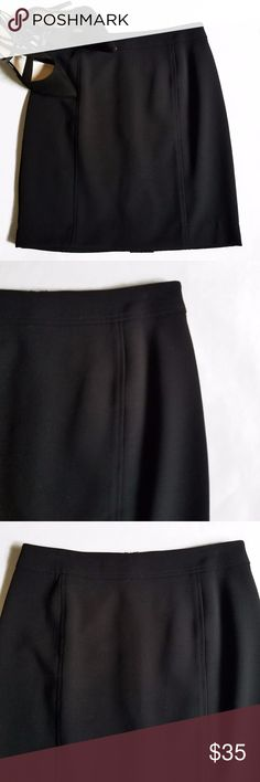 "Loft Curvy Black Pencil Skirt Brand New with Tags black pencil skirt from Loft.  Curvy fit in a size 6.  Unlined.  14"" Waist 19"" Length  62% Polyester 33% Rayon 5% Spandex LOFT Skirts Pencil"