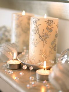 For a wedding or home decor, I love these candles.