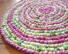 6 ft Alfombra redonda grande trapo Crochet por MagicByCrochet