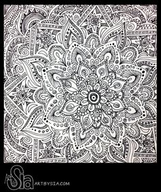 original zentangle doodle drawing modern abstract art pen and ink - Drawing Design Ideas