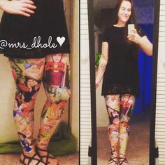 Someone's super happy with her pair of snow white leggings! :D