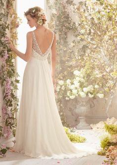 Vestidos de novia románticos.