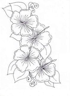 Flowers outlines for colouring best of flower outline drawing new flower drawing hibiscus flower tattoos of Hawaiian Flower Drawing, Hibiscus Flower Drawing, Flower Crown Drawing, Hawaiian Flower Tattoos, Hibiscus Flower Tattoos, Vine Drawing, Beautiful Flower Drawings, Pencil Drawings Of Flowers, Flower Outline