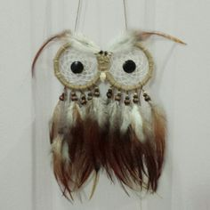 Another masterpiece done! XD woot! Woot!! Waiting for his rightful owner ;) #owldreamcatcher owl dream catcher