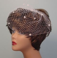 Birdcage Veil French Veiling with Dots Blusher by AnnLeslie, $33.00