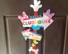 Mickey Mouse Clubhouse Centerpiece por DreamComeTrueParties en Etsy