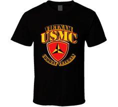 USMC - 3rd Marine Division - Vietnam - Combat Vet T Shirt