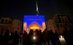 3/19/14 The entrance of The Palace Downtown Dubai is transformed using video projection and sound. Watch the arch light up in dozens of torches, as the wind blows and tries to put them out. The shadow of the night will take over and will emulate a captivating journey that transcends time, space and imagination.