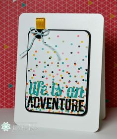 Another fun card made with Stampin' Up! Project Life PLxSU pocket cards!