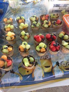 "Fruit Mini balls ""ice cream"" . Healthy party"