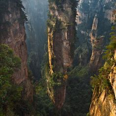 Zhangjiajie National Park in China.