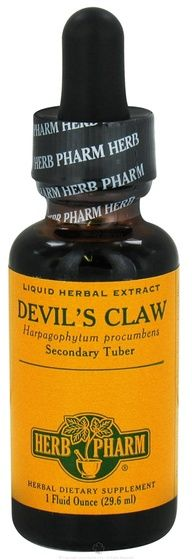For arthritis pain, take 500 mg daily of Devils Claw. known for relieving swelling and pain. You can take devils claw in tea, capsule or liquid extract form, and also use it as a topical ointment. Aside from potentially relieving headaches and joint problems, devils claw may have uses for back pain, neck pain, poor appetite and fever.