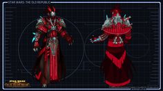 Star Wars The Old Republic Concept Art - Sith Inquisitor Armor Concept, Concept Art, Character Concept, Starwars The Old Republic, Star Wars Timeline, Star Wars The Old, Armor Clothing, Star Wars Sith