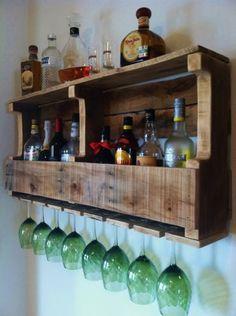 Rustic Wine Rack, Extra Wide, Liquor Rack, Liquor Cabinet, Reclaimed Wood Handmade Primitive Barn Wood