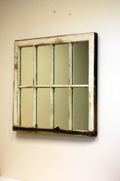 Long narrow 12 pane window mirror window for Long window mirror