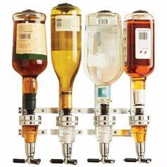 Wyndham House 4 Bottle Alcohol Liquor 1 oz Shot Dispenser Bar Butler Brand New Liquor Bar, Wine And Liquor, Liquor Bottles, Wine And Beer, Wine Drinks, Alcoholic Drinks, Drink Beer, Water Bottles, Cocktails