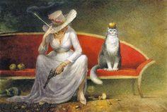 Позитивная котоживопись Владимира Румянцева Cat Drawing, Crazy Cats, Cat Art, Contemporary Artists, Impressionism, Cats And Kittens, Cute Cats, Illustrators, Animals And Pets