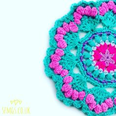 Make a frilly, Mermaid and seashell inspired crochet mandala with this week's free mandala crochet pattern - the improved and updated version!   So, more and more of you awesome talented crocheters ou