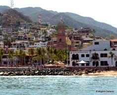 Downtown Puerto Vallarta from the sea. www.puertovallarta.net #vallarta #mexico