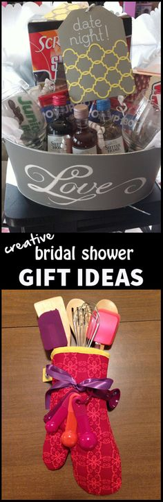 Creative Bridal Shower Gift Ideas since I guess I'm at that age now where I go to bridal showers for my own friends instead of my mom's friends.