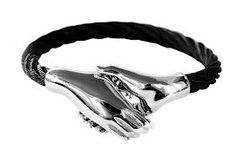 hand in hand bracelet in black, beatifull for men and women