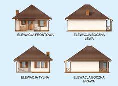 DOM.PL™ - Projekt domu PT SAN ANTONIO dom letniskowy CE - DOM PT1-93 - gotowy koszt budowy San Antonio, Gazebo, Outdoor Structures, House Styles, Home Decor, Houses, Projects, Kiosk, Decoration Home