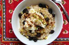 Steel Cut Oats with Ricotta, Pistachios & Raisins Recipe on Food52 recipe on Food52