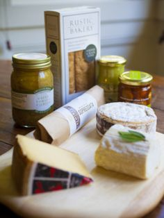 St. James Cheese Company, nice combo of cheese and accompaniments