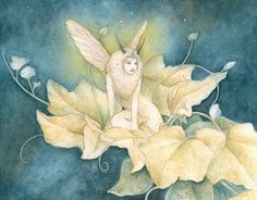 Hey, I found this really awesome Etsy listing at https://www.etsy.com/listing/223100266/moth-faery-85-x-105-print