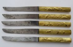 JAPANESE-KNIFE-KOZUKA-KOGATANA-SIGNED-JAPON-5-COUTEAUX-JAPONAIS-KOSUKA