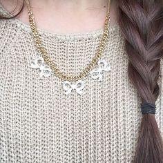 LC Lauren Conrad for Kohl's Bow Statement Necklace Ring Necklace, Arrow Necklace, Earrings, Lc Jewelry, Jewellery, Diy Accessories, Lc Lauren Conrad, Bling, Bows
