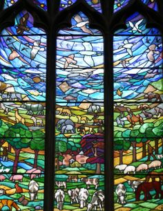 Modern Stained Glass Window Nantwich Parish Church
