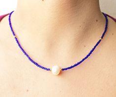 Collar de perla Collar de perla mostacillas y balines