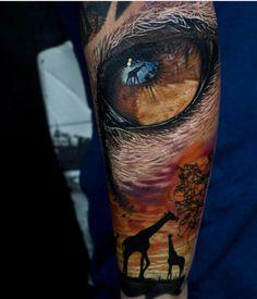 Eyes Sleeve Tattoo..