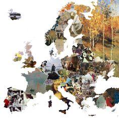map famous artworks Map of Famous Artworks in Europe, source: reddit.com, u/halfabluesky map famous artwork