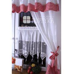 Atrakcyjna Zazdroska szydełkowa kuchenne rewolucje Chabby Chic, Valance Curtains, Shower Curtains, Shabby, Windows, Home Decor, Curtains, Sheer Curtains, Decoration Home