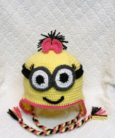 Girl Yellow Minion with Goggles - MADE TO ORDER. $25.00, via Etsy.