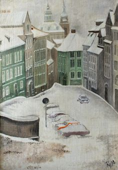 Sideways of Prague. The painting from our Artmak gallery.