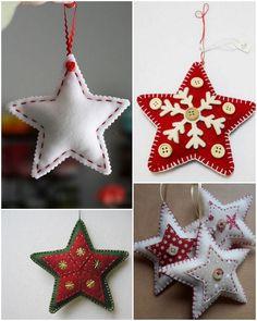 Haligashka: CYKL ŚWIĄTECZNY (2) - filcowe ozdoby świąteczne