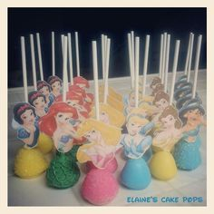 Disney Princess Cake Pops by Elaine's Cake Pops (Pint Sized Baker)