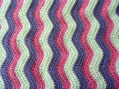 Life in colour...: Baby Ripple Blanket - ta-dah!