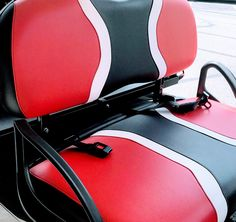 You can purchase an easy to install golf cart seat belt kit that includes the bracket and either 2 or 4 seat belts. Yamaha Golf Cart Parts, Yamaha Golf Carts, Golf Cart Seat Covers, Golf Cart Seats, Golf Carts For Sale, Custom Golf Carts, Yamaha Golf Cart Accessories, Golf Cart Lift Kits, Golf Mk4