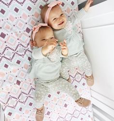 Tatum and Oakley Twin Baby Girls, Twin Babies, Cute Twins, Cute Babies, Tatum And Oakley, Mode Instagram, How To Have Twins, Everything Baby, Baby Kind