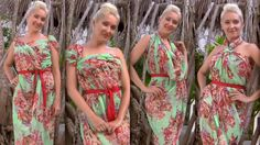 8 different ways to tie a scarf into a summer dress