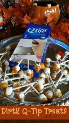 Looking for a GROSS treat idea for Halloween? These super gross Dirty Q-Tip Treats should do the job! Ick!!
