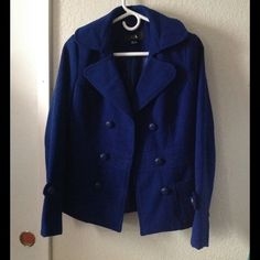 Blue Coat Used only a few times. final price Forever 21 Jackets & Coats Pea Coats