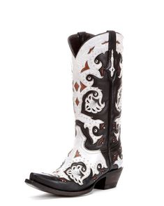 Lucchese Women's Studded Scarlet Black and Natural Inlay Cowgirl Boot   http://www.countryoutfitter.com/products/32409-tribal-beat-chevron-printed-bar-earrings #cowgirlboots