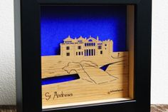 St Andrew's Old Course Mini Wall Art by Urban Twist.  Available in the Tartan Week.com Shop.