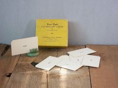 Vintage Dolch Word Cards Paper Ephemera Craft by RevivedTraditions, $1.00