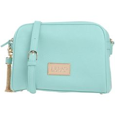 Liu •jo Cross-body Bag ($105) ❤ liked on Polyvore featuring bags, handbags, shoulder bags, turquoise, blue cross body purse, blue studded handbag, studded purse, blue shoulder bag and crossbody shoulder bag